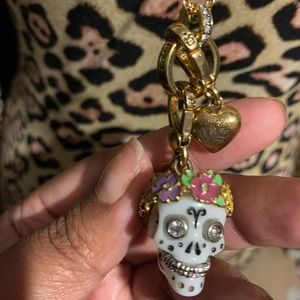 Juicy Couture Sugar Skull Charm and Necklace